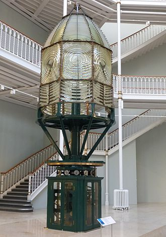 Inchkeith - Dioptic lens designed by David A Stevenson for the Inchkeith Lighthouse. It was in use from 1889 until automation was introduced in 1985.
