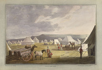 Third Anglo-Maratha War - Indian Camp Scene