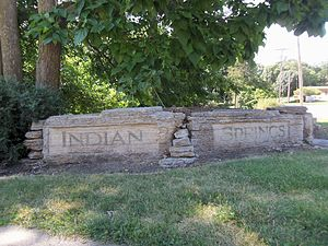 Indian Springs Park (Davenport, Iowa) - Sign at the park entrance