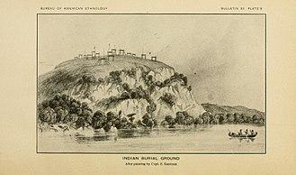 Burial tree - Indian burial ground. S. Eastman