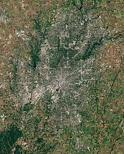 Satellite image of Indianapolis metropolitan area