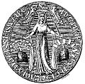 Ingiburga of Sweden (daughter of Hacon) seal 1318 (2).jpg