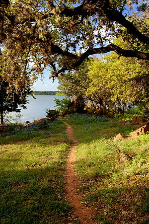 Inks Lake - Trail at Inks Lake in the Texas Hill Country
