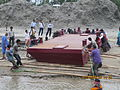 Installation of Experimental floating landing station at Meghai-Jamuna Adarsha ghat, Sirajganj 37.JPG