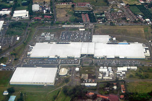 Economy of Costa Rica - This Intel microprocessor facility in Costa Rica is responsible for 25% of exports and 4.9% of Costa Rica's GDP.
