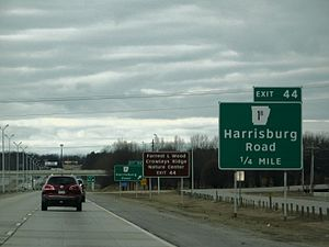 Interstate 555 - I-555 exit 44 signage