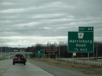 Interstate 555 - I-555 exit 44 signage