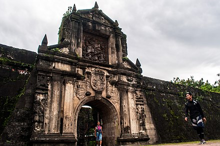 The historic Fort Santiago in Intramuros. Intramuros Manila.jpg
