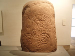 Crescent (Pictish symbol) - Image: Invereen stone