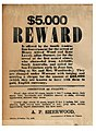 Is offered by the South Australian Government of the arrest of Henry Alfred Wood and Kate Lowry, alias Burnett, (or for the arrest of the first named alone), who absconded from Adelaide, South (8076814410).jpg