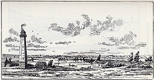 Gibraltar Point Lighthouse - A sketch depicting the lighthouse  c. 1816, from Robertson's Landmarks of Toronto.