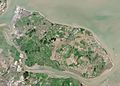 Isle of Sheppey from Space NASA.jpg