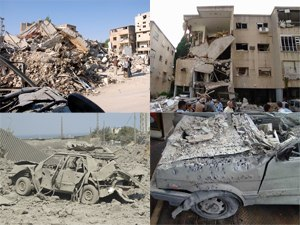 United Nations Security Council Resolution 1366 - Ruins from armed conflict