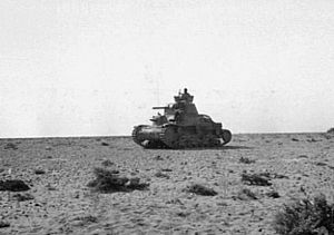 Battle of Bir Hakeim - Image: Italian M13 40 tank in the desert 1942