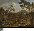 Italianiserend landschap met markttafereel, circa 1680, Groeningemuseum, 0040412001.jpg
