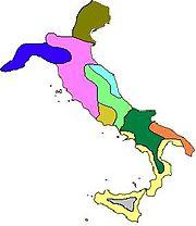 Les peuples dans la péninsule italienne au début de l'âge du fer ██Ligures ██Vénètes ██Étrusques ██Picènes ██Ombriens ██Latins ██Osques ██Messapes ██Grecs