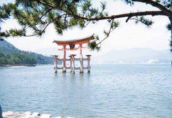 Torii at Itsukushima Shrine