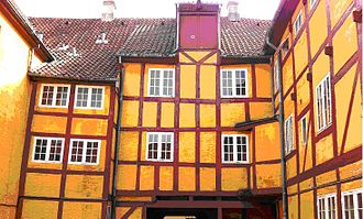 Jørgen Olufsen's House - Rear of the half-timbered building