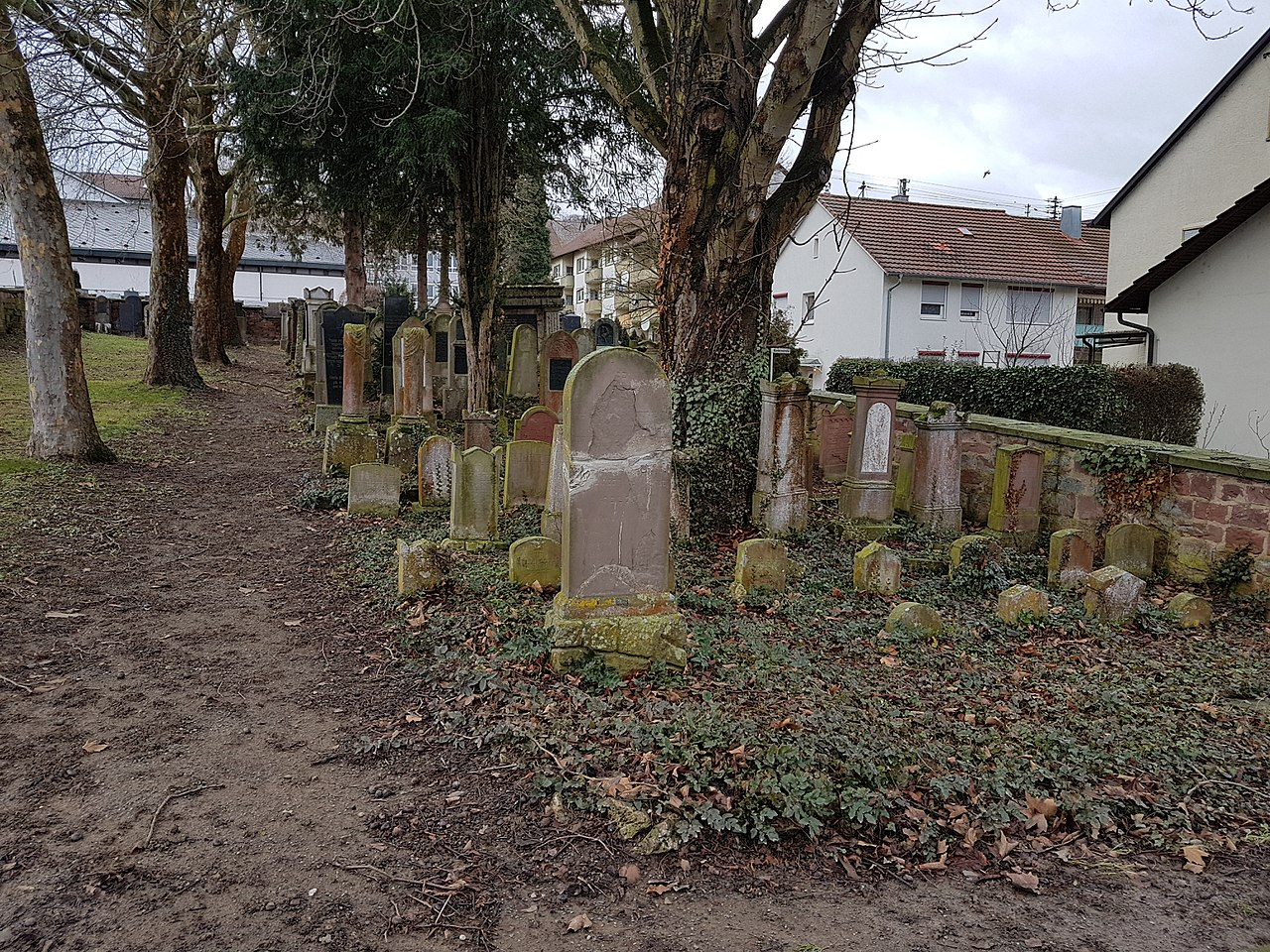 Jüdischer Friedhof Tauberbischofsheim direkt neben dem Friedhof Tauberbischofsheim - 1.jpg
