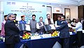 J.P. Nadda and the Minister of State for Power, Coal, New and Renewable Energy and Mines (Independent Charge), Shri Piyush Goyal witnessing the exchange of signed MoU between Govt. of Himachal Pradesh.jpg