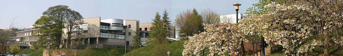 A view of the J. B. Morrell Library, the University's main academic library, north-west from near Langwith College at the Heslington campus