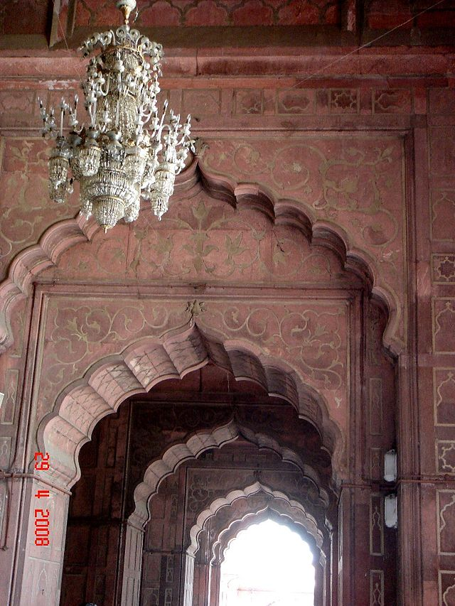 Interior Cusped arches of Jama asjid Delhi
