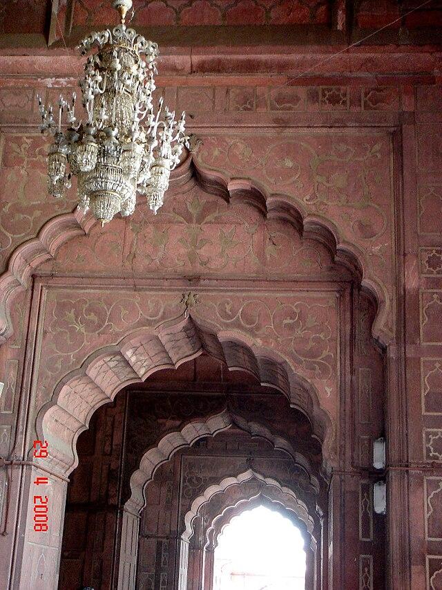 Interior Cusped arches of Jama asjid Delhi