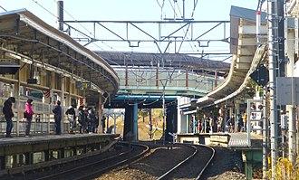 Bubaigawara Station - Image: JR Bubaigawara Station Platforms Jan 2014
