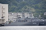 JS Hirado(MSO-305) right front view at JMSDF Yokosuka Naval Base April 30, 2018 02.jpg