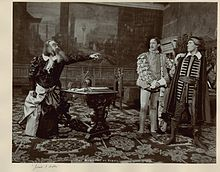 A scene from a 19th-century performance of The Merchant of Venice