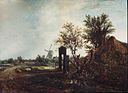 Jacob van Ruisdael - Landscape with a Cottage and a Windmill.jpg