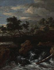 Paysage rocheux avec cascade