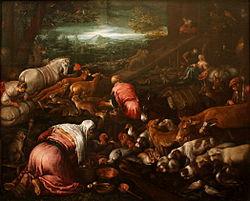 Jacopo Bassano: The Animals Entering Noah's Ark