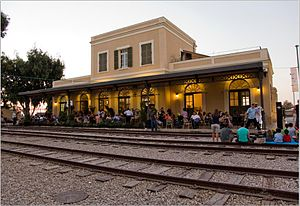 Jaffa train station - restored
