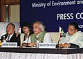 Jairam Ramesh addressing a Press Conference at the conclusion of the BASIC (Brazil, South Africa, China and India) countries Environment Ministers' meeting, in New Delhi on February 27, 2011.jpg