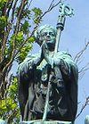 Statue over Jakob Ulvsson ved Uppsala domkirke