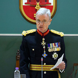 James Dutton (Royal Marines officer) - Dutton being sworn in as Governor