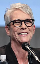 Photo of Jamie Lee Curtis at the 2015 San Diego Comic-Con International.