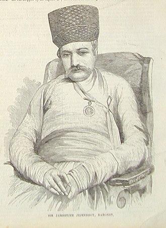 Jamsetjee Jejeebhoy - Sketch of Jejeebhoy, 1857