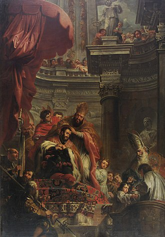 Jan-Erasmus Quellinus - The Crowning of Charles V in Bologna