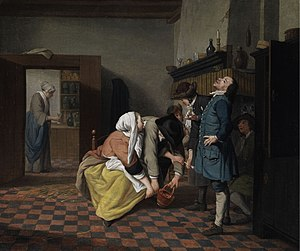Jan Josef Horemans the Younger - The smoking prohibition