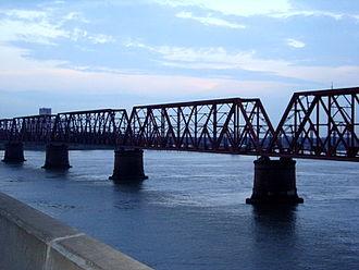 Brahmanbaria District - Meghna Bridge of Tongi–Bhairab–Akhaura line.