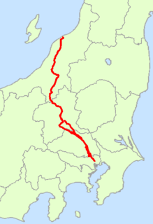 Japan National Route 17 road in Japan