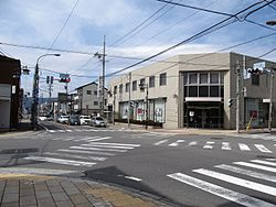 Japan National Route 20 Taishadōri crossing at Shimosuwa town.jpg