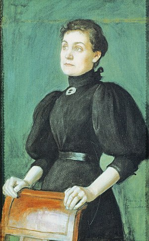 Eero Järnefelt - Portrait of his wife, Saimi
