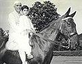 Jawaharlal Nehru and Rajiv Gandhi on horseback.jpg