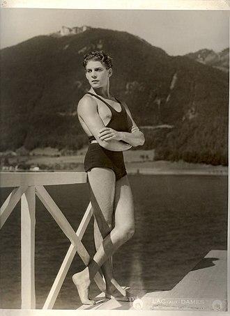 """Jean-Pierre Aumont - Unknown photographer. 'Jean-Pierre Aumont in """"Lac aux Dames""""' 1934"""
