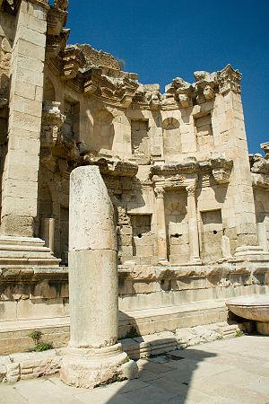 Jerash - The Jerash nymphaeum.