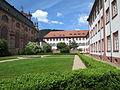 Jesuitenkirche Heidelberg, Teilansicht mit Gartenanlage und Gebäudekomplex des ehemaligen Jesuiten Kollegs 1336.JPG