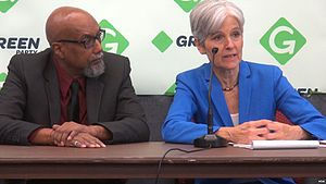 2016 Green National Convention - Nominees Stein (right) and Baraka (left) at the convention